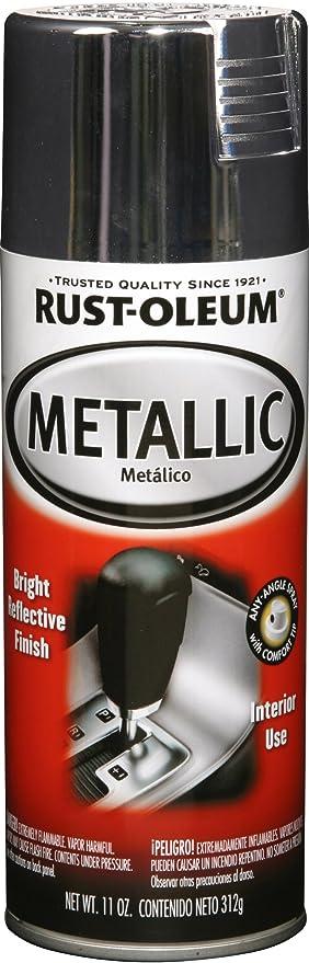 Rust Oleum 248652 Automotive Interior 11 Ounce Spray Paint, Metallic Chrome