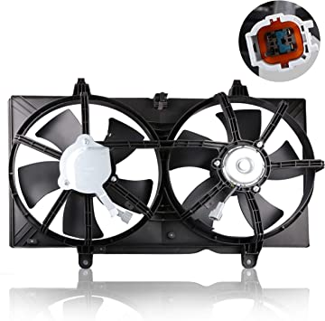 Dual Radiator Cooling Fan Assembly For Nissan Sentra 2.5L 02 03 04 05 06