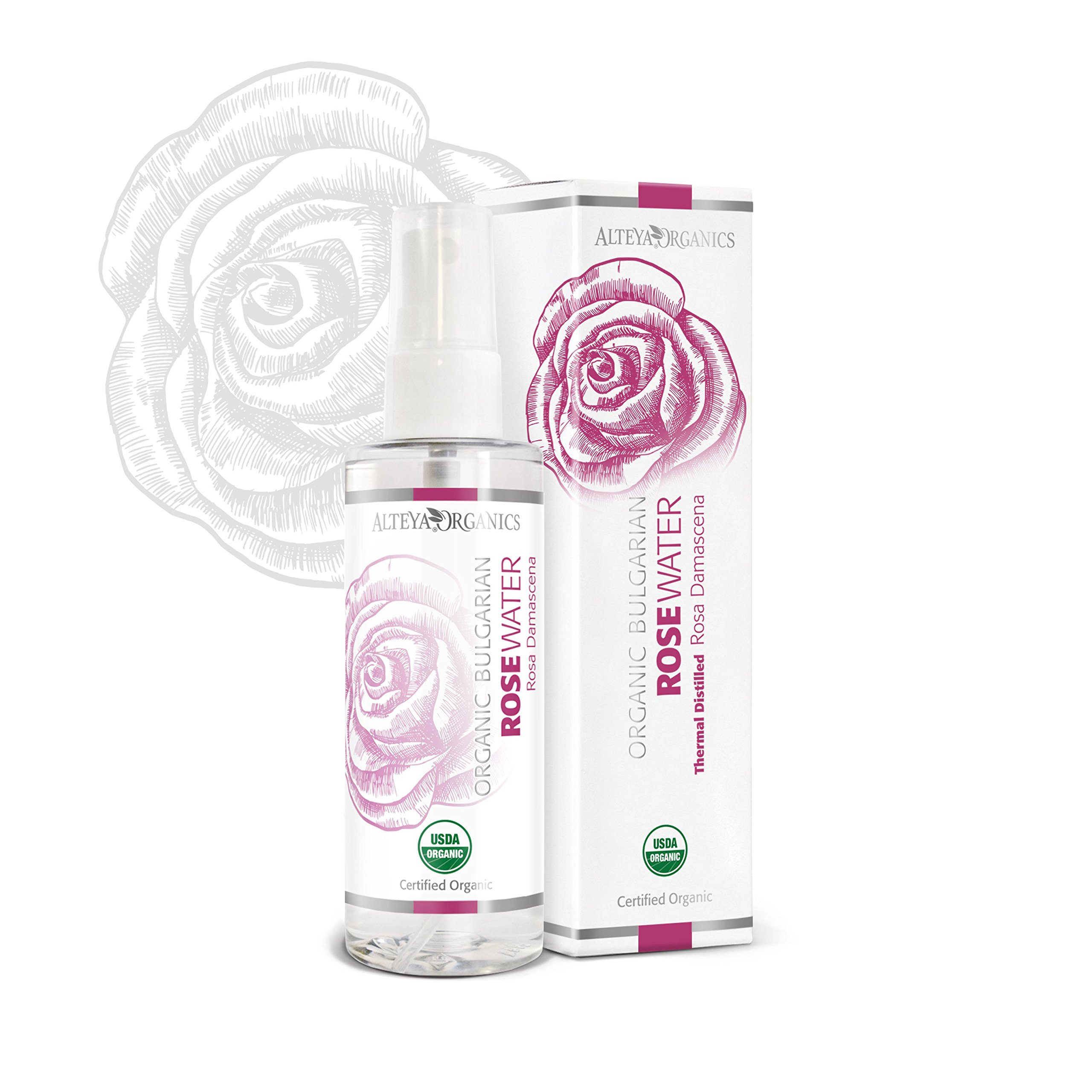 Alteya Organic Agua Floral de Rosa (Rosa Damascena) 100 ml – Spray - 100