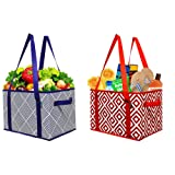 Amazon Price History for:Earthwise Deluxe Collapsible Reusable Shopping Box Grocery Bag Set with Reinforced Bottom Storage Boxes Bins Cubes (Set of 2)