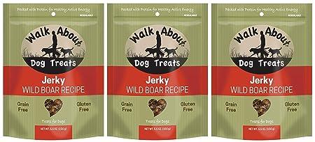 Walk About 3 Pack of Dog Treats Jerky, 5.5 Ounces, Wild Boar Recipe