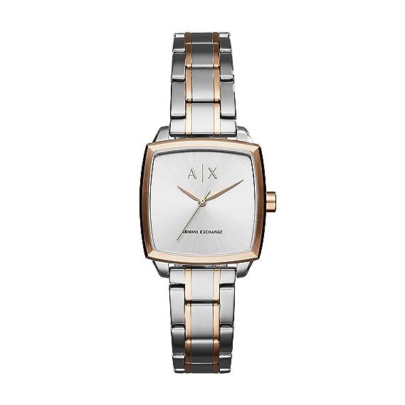 Armani Exchange Reloj para Mujer de Cuarzo con Correa en Acero Inoxidable AX5449: Amazon.es: Relojes