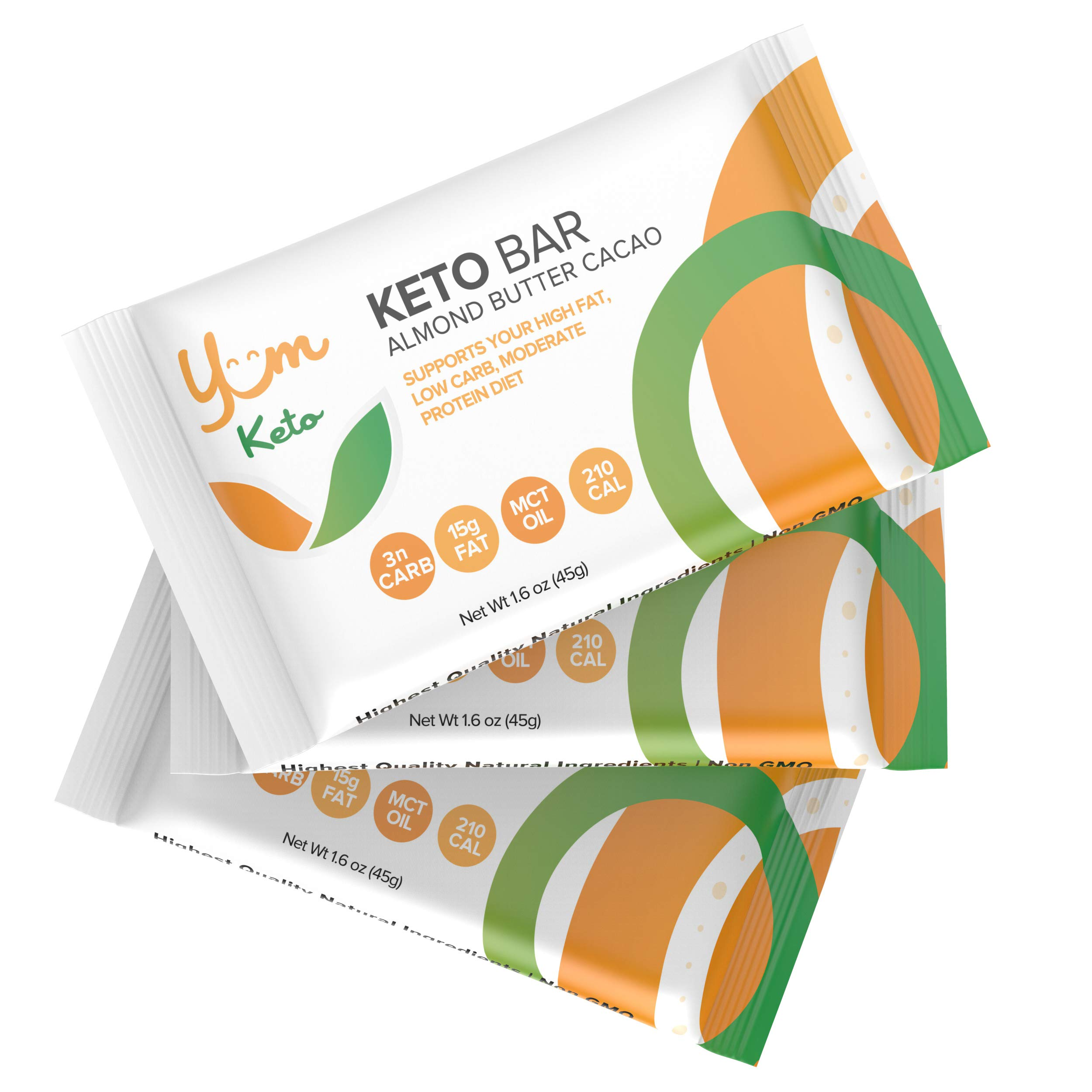YUM Keto Bar, Almond, MCT Oil and Cacao Butter (6 Count) - Keto Snacks Low Carb Chocolate Keto Food - Ketogenic, Paleo, Low Carb and Glycemic Diet Friendly - 3g Net Carbs by Yumtrition