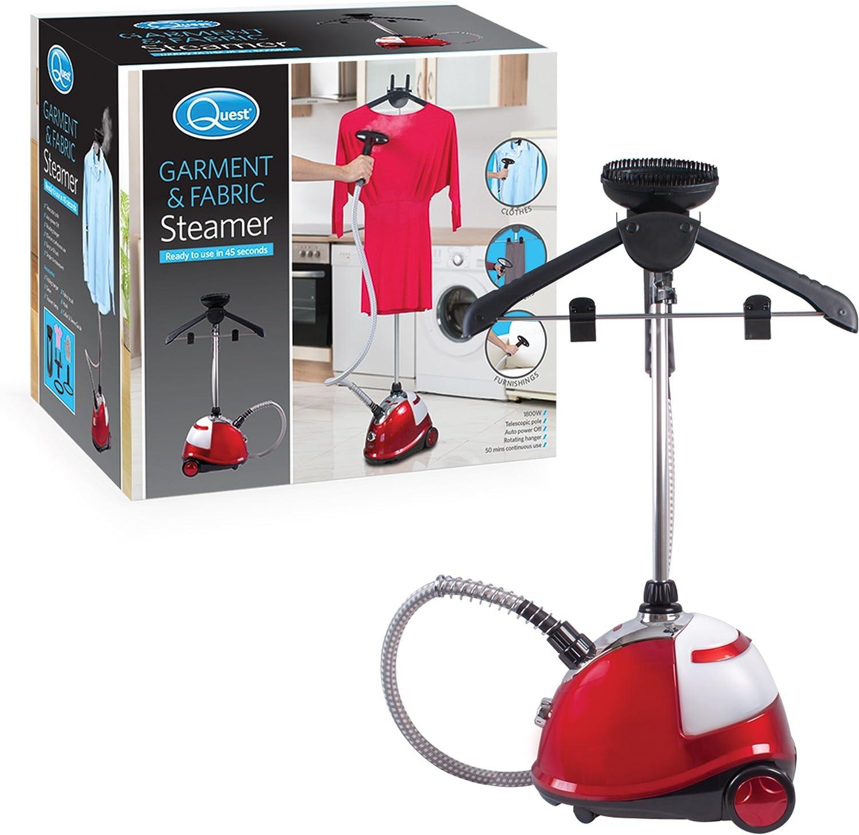 Irons /& Sterilizes Clothes Quest Portable Garment Steamer 800 Watt Lightweight