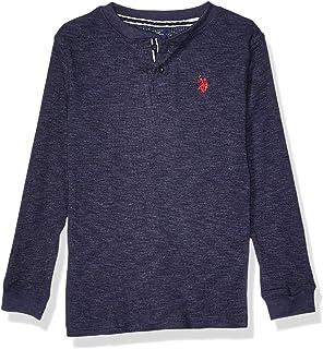 Little Boys Long Sleeve Thermal Henley Pullover Bright Cobalt Polo Assn U.s