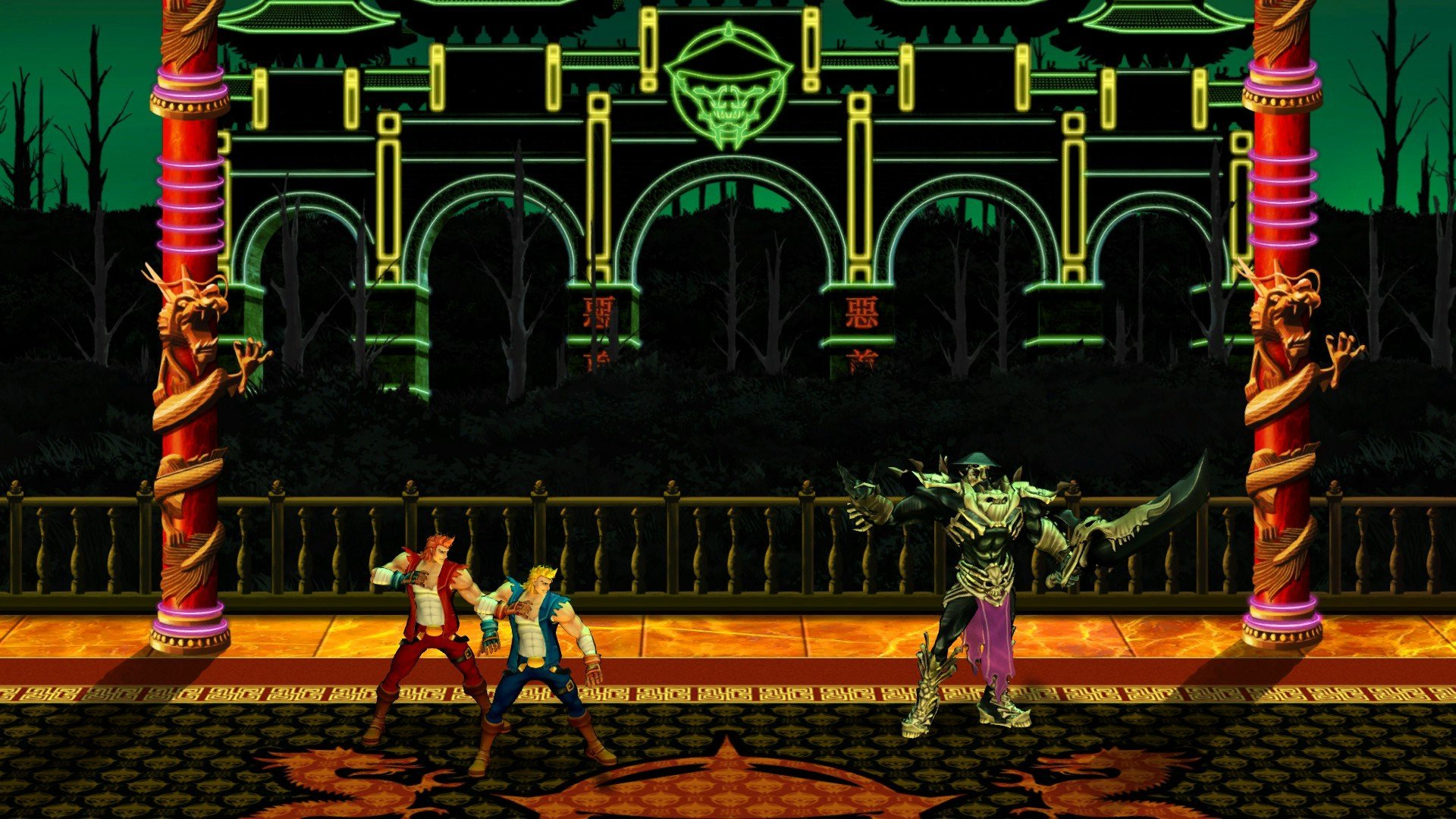 Amazon Com Double Dragon Neon Online Game Code Video Games