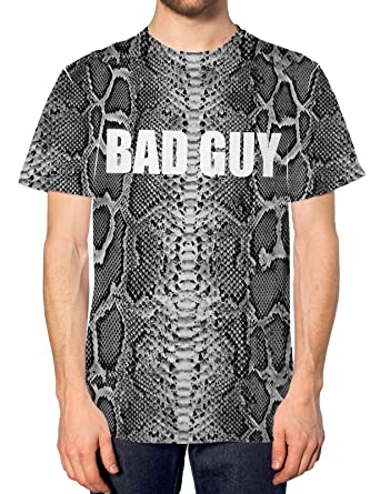 Bad Guy All Over Print T Shirt Urban Top Damen Schlange Muster Herren Swag  Haut  Amazon.de  Bekleidung 87fae24eaf