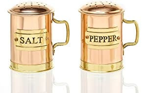 Old Dutch Decor Copper Salt and Pepper Shaker Set, 2-3/4-Inch