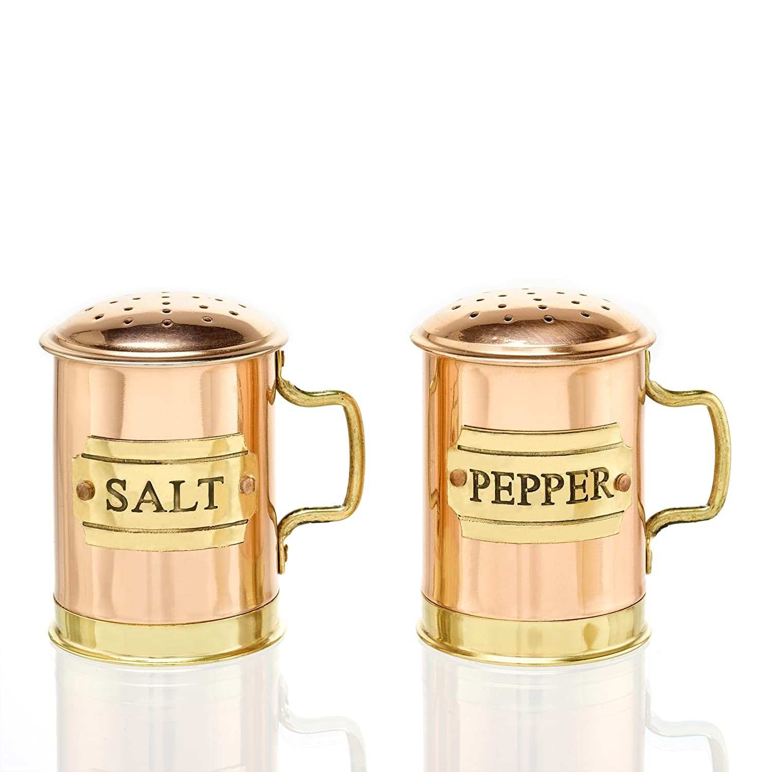 Copper 2-3 4-Inch Old Dutch 838 Salt and Pepper, 1¾ Qt, Antique Copper