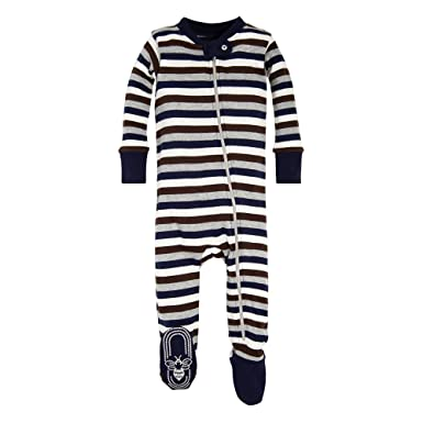 09e4938202 Amazon.com  Burt s Bees Baby - Baby Boys Unisex Sleeper Pajamas