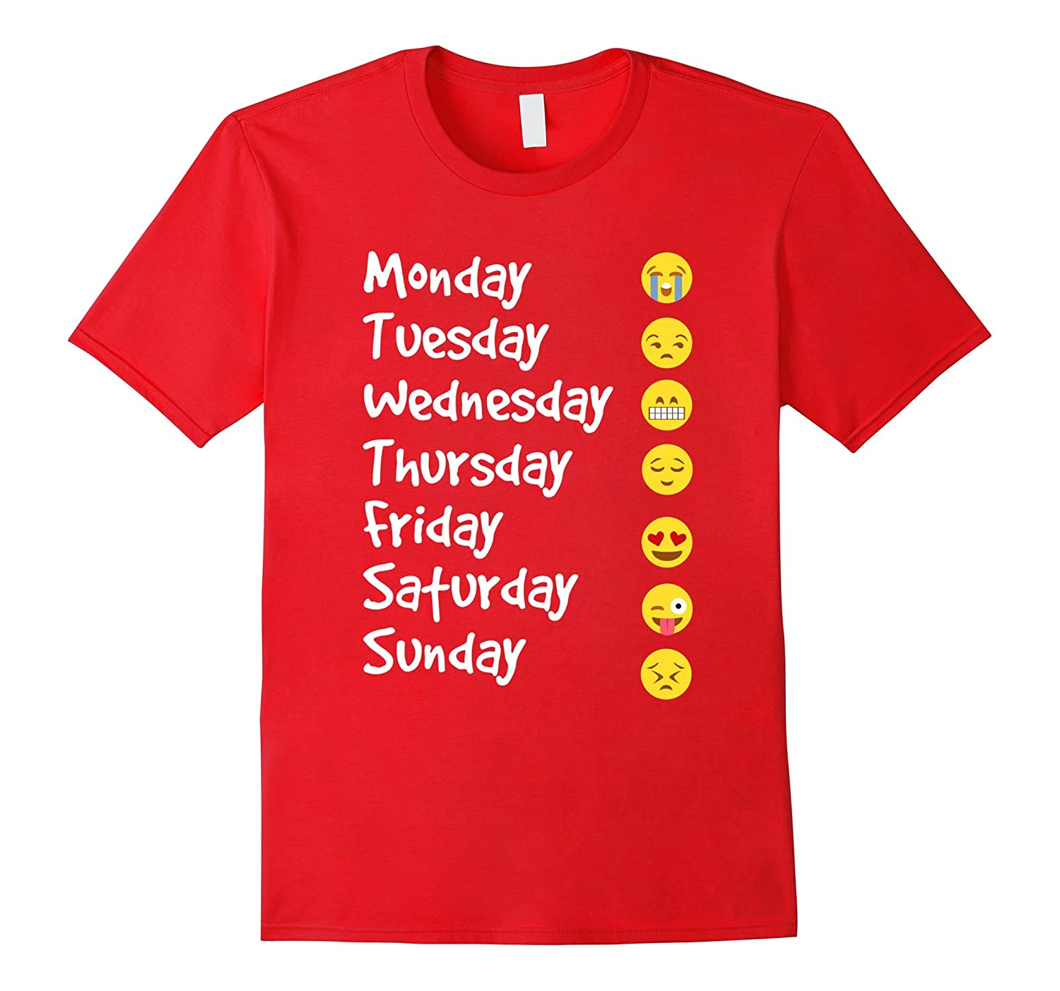 Emoji T-Shirt Love Your Emoticon Shirt 7 Days A Week! White Writng-ah my shirt one gift