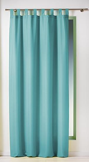 Douceur d\'Intérieur Rideau à Passants Uni Essentiel Turquoise ...
