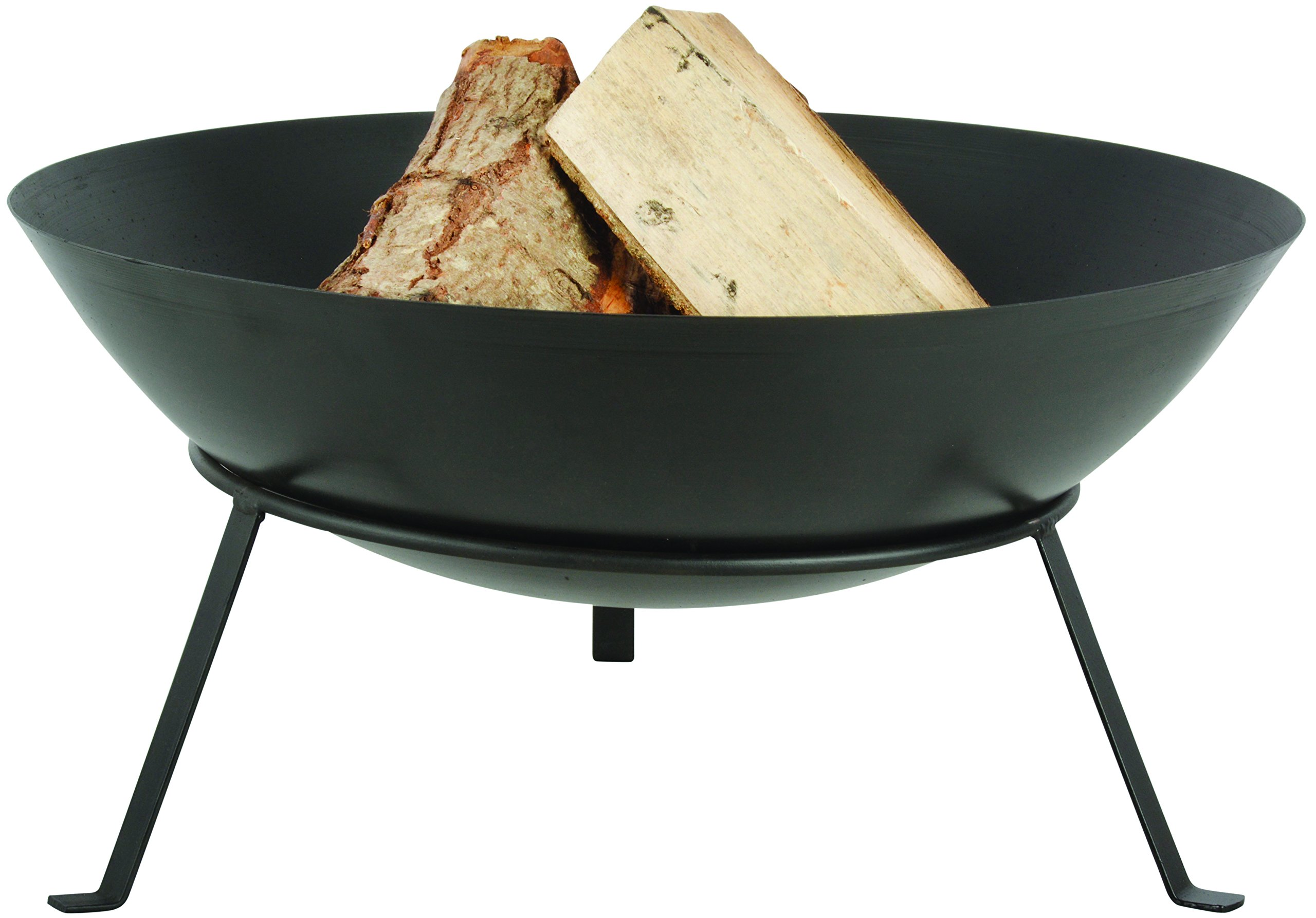 Esschert Design FF267 Series Fire Bowl with Legs - Black metal is perfect for placement outdoors near a garden, patio, or in the yard With this large fire bowl on a stand you can sit around a roaring fire, anywhere, late into the night with friends Black cast iron outdoor bowl - patio, fire-pits-outdoor-fireplaces, outdoor-decor - 816WWw%2Bkm6L -
