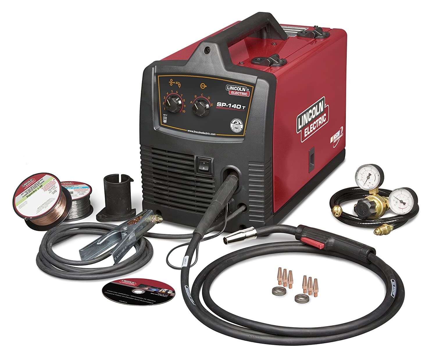 Lincoln Sp 140t Wire Feed Welder K2688 1 Ac Dc Arc Welding 110 Mig Wiring Diagram Equipment