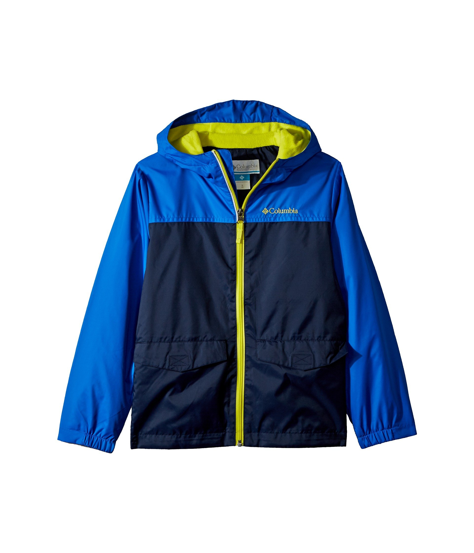Columbia Kids Boy's Rain-Zilla¿ Jacket (Little Kids/Big Kids) Collegiate Navy/Super Blue/Zour X-Large