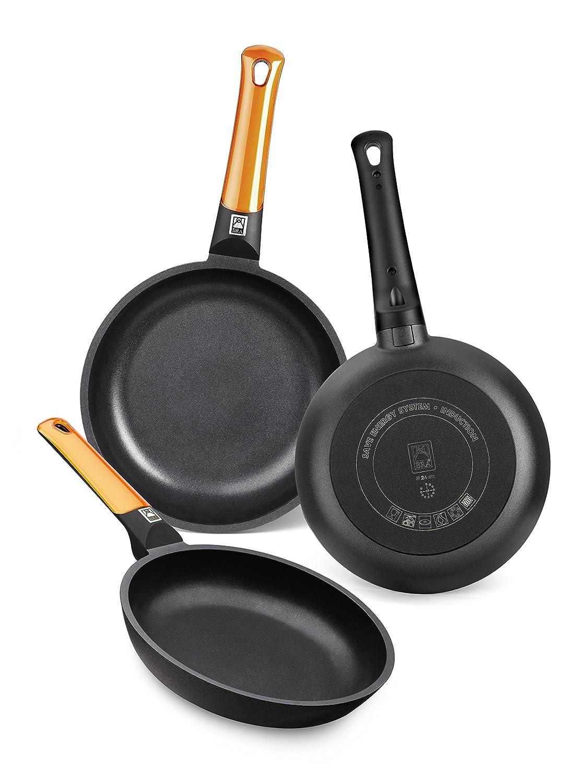 Amazon.com: BRA - Pan BRA Efficient Orange Ø 26 cm TEFLON Black Orange: Clothing