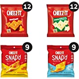 Cheez-It Baked Snack Cheese Crackers Variety Pack - 4 Flavors Single Serve School Lunch Snacks (Case Contains 42 Count)