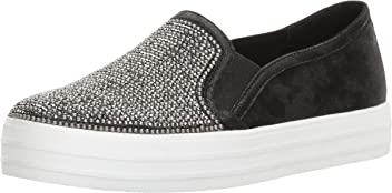 Skechers Double Up-Shiny Dancer, Zapatillas sin Cordones para Mujer, Negro (Black), 36 EU