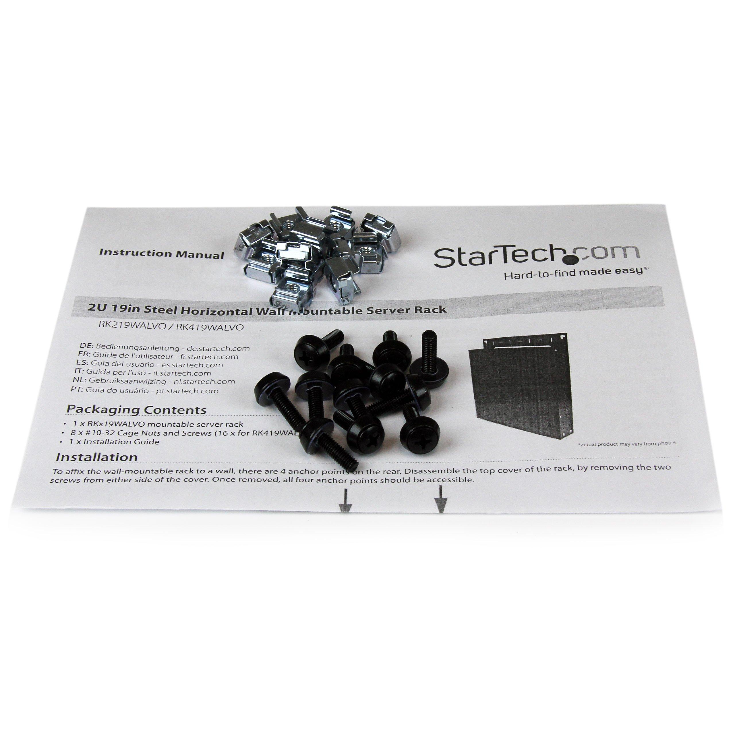 StarTech.com 4U 19-Inch Steel Horizontal Wall Mountable Server Rack RK419WALVO (Black) by StarTech (Image #7)