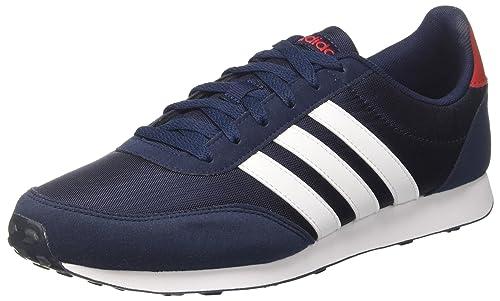 adidas V Racer 2.0, Scarpe Running Uomo, Grigio (Grey Two/Footwear White/Collegiate Royal 0), 44 EU