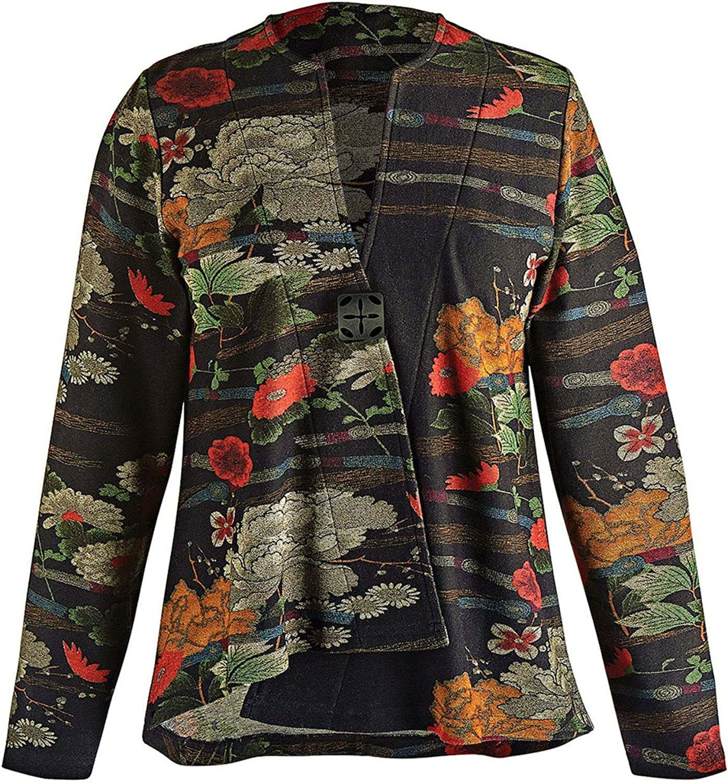 Parsley /& Sage Womens Simone Reversible Jacket Purple or Red on Black Coat