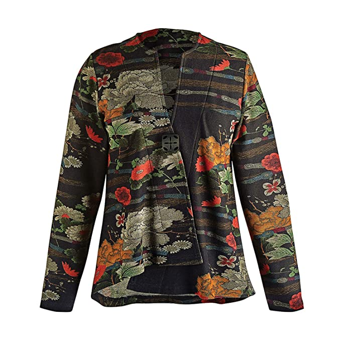 Amazon.com: Parsley & Sage - Chaqueta cruzada japonesa para ...