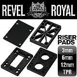 REVEL ROYAL スケートボード スケボー デッキ&トラック用 ライザーパッド ブラック 2枚入り