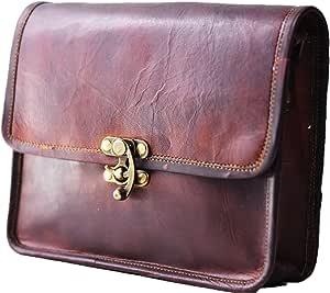 "Leather Women's Hippie Leather Purse Cross-Body Shoulder Bag Travel Satchel Handbag Tote 9"" x 7"""