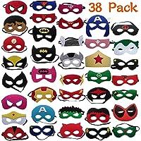 DREAMWIN 38 Piezas Máscaras de Superhéroe, Máscaras