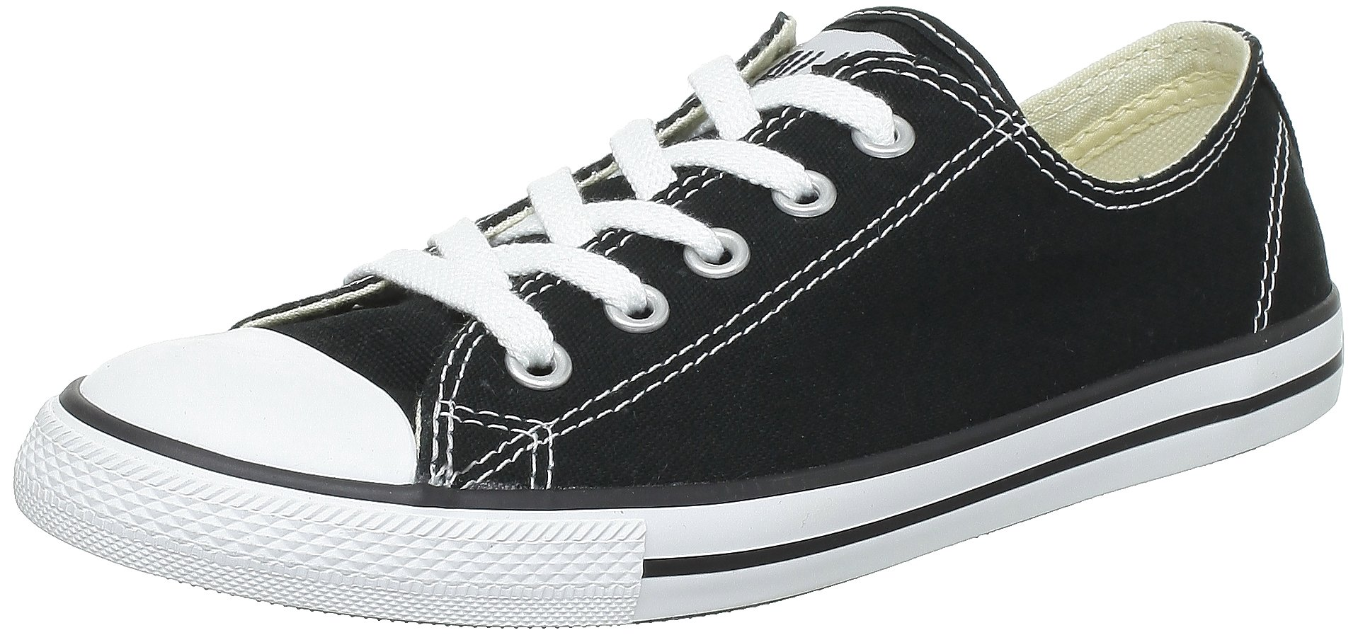 Converse Women's Chuck Taylor All Star Dainty, CT AS DAINTY OX BLACK/WHITE, 8 US