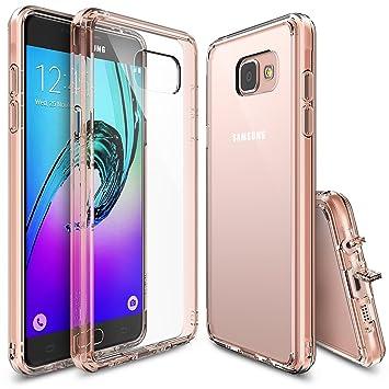 Ringke Fusion Compatible con Funda Galaxy A5 2016 Absorcion de Choque Cojín Carcasa para Galaxy A5 2016 - Rose Gold