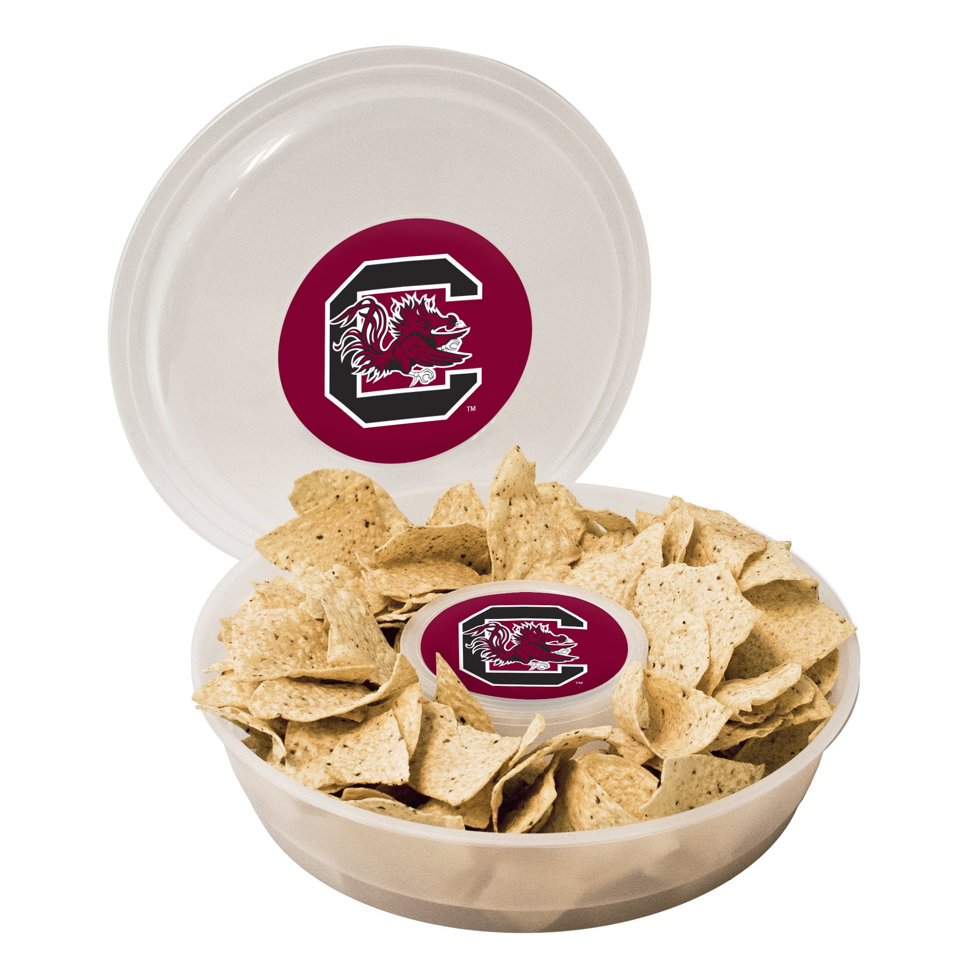 NCAA South Carolina Fighting Gamecocks Plastic Chip and Dip Container