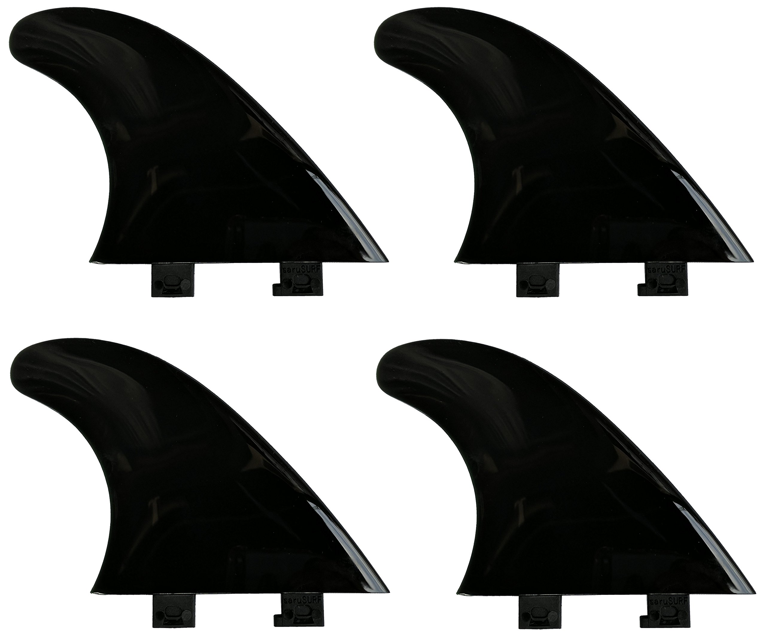 airSUP SUP Click Fins 2 Side Fin for inflatable Minimum Flex for River and Surf