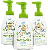 'Babyganics Foaming Dish and Bottle Soap, Fragrance Free, 16oz Pump Bottle (Pack of 3)' from the web at 'https://images-na.ssl-images-amazon.com/images/I/816Wjd5H17L._AC_UL160_SR154,160_.jpg'