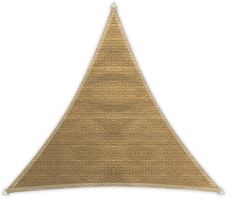 Windhager 10963 - Vela de sombra para patio, triangular 3.6 m, color caña