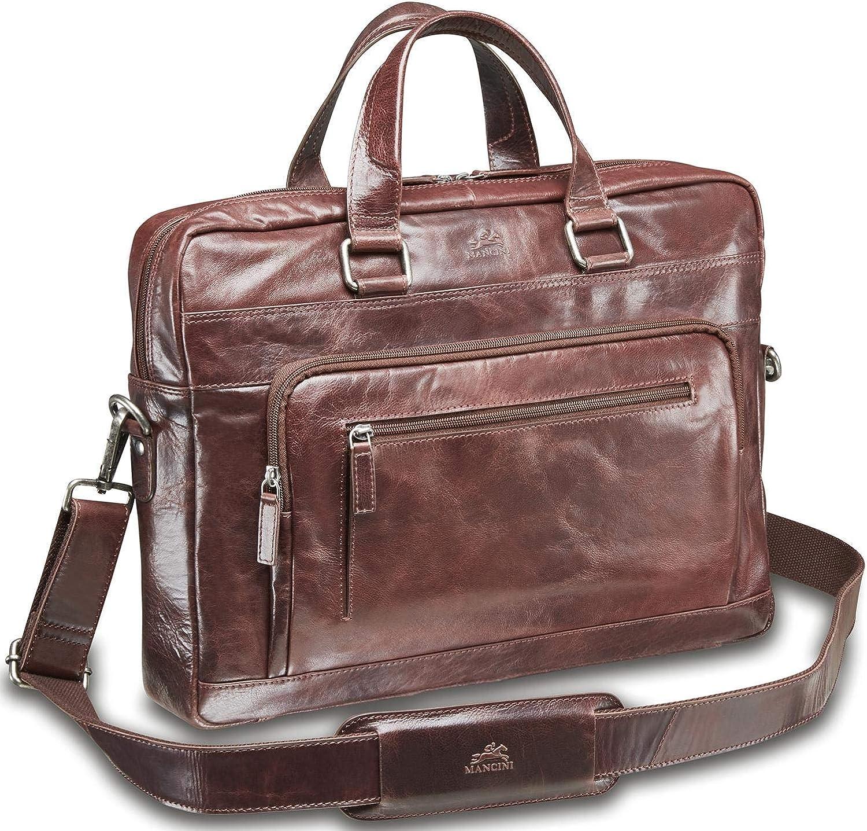 Mancini Bridge Single Compartment 15.6 Laptop//Tablet Briefcase