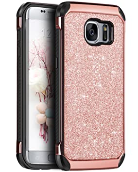 BENTOBEN Funda Samsung Galaxy S7 Edge Brillante, Carcasa ...