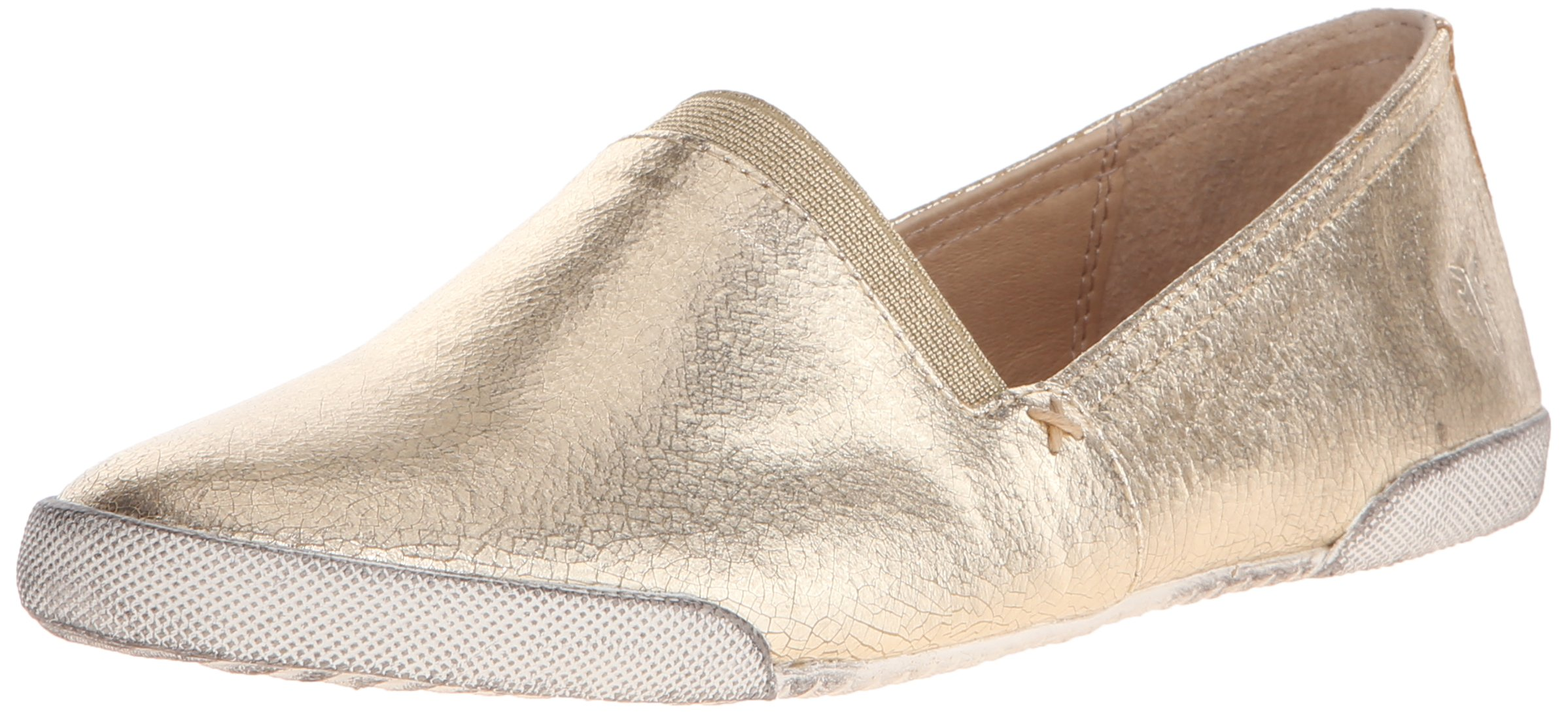 FRYE Women's Melanie Slip On Fashion Sneaker, Gold/Metallic Leather, 7.5 M US