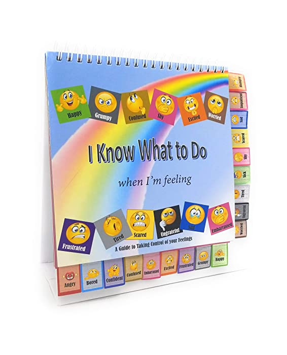 Thought-Spot I Know What to Do Cards for Taking Control of Your Feelings/Emotions; Helps Children Identify Their Feelings & Emotions; Hardcover and Laminated Pages