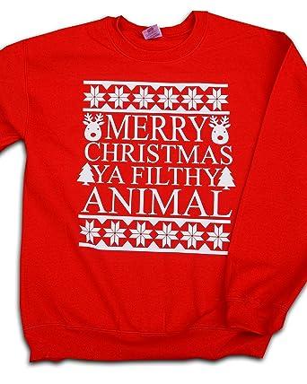 Home Alone   Merry Christmas Ya Filthy Animal Quote Christmas Xmas Jumper  Sweatshirt (Small)