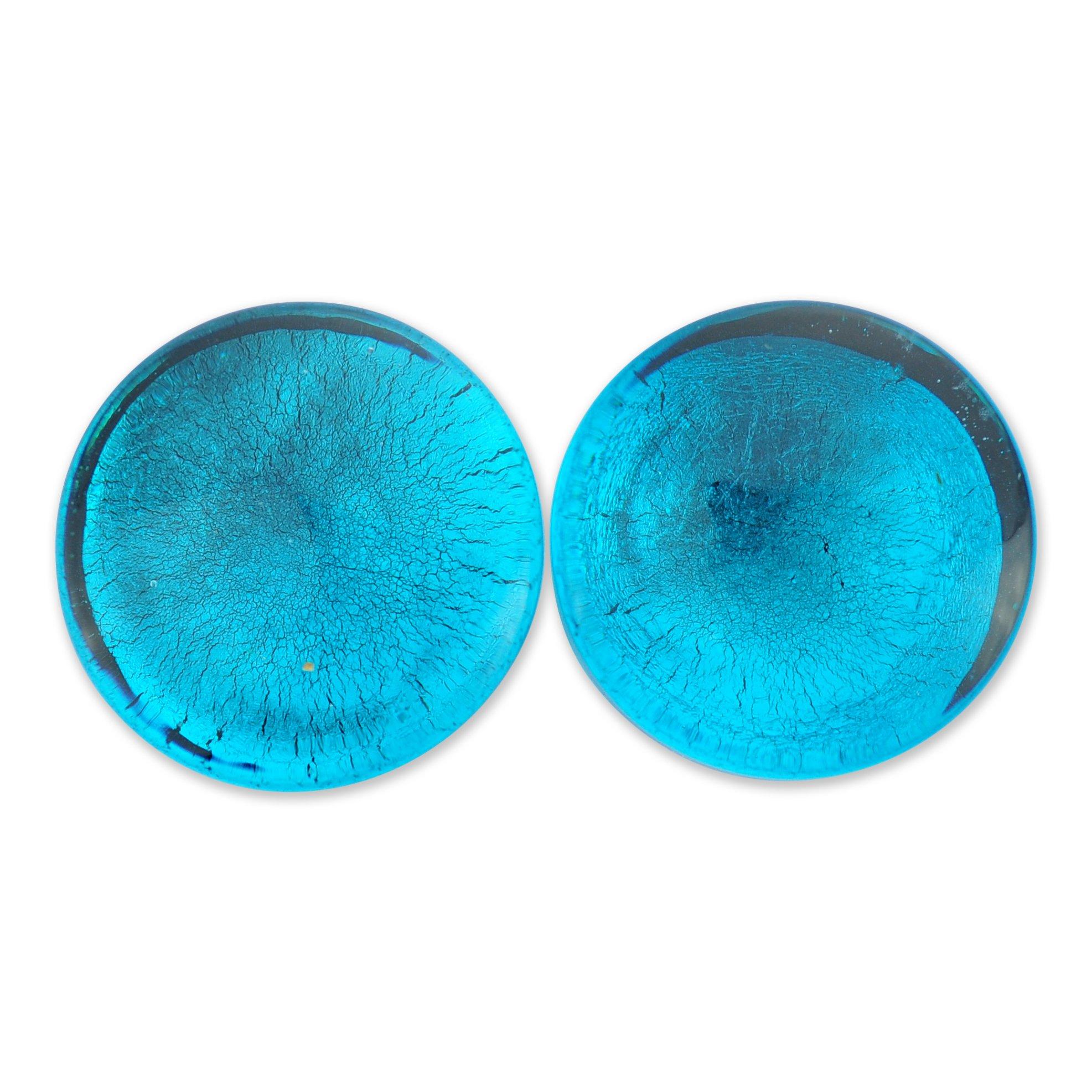 ArcticBuffalo Metallic Aqua Single Flare Glass Plugs
