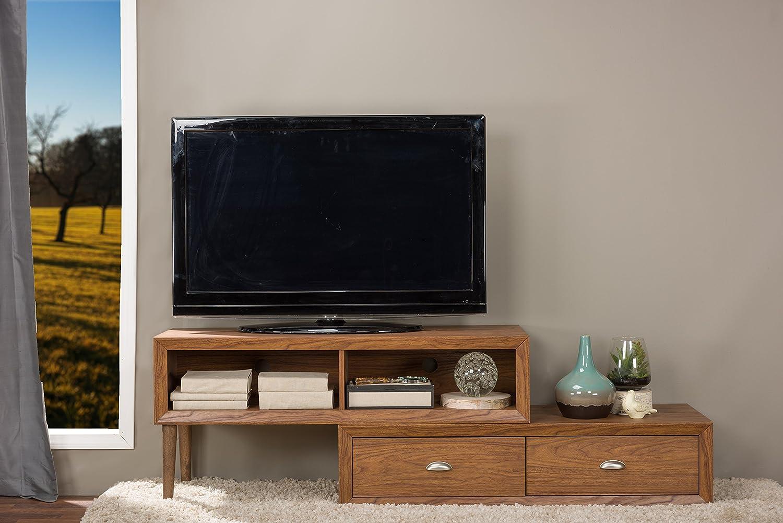 Amazon Com Baxton Studio Bainbridge Wood Contemporary Tv Stand  # Contemporary Tv Stands