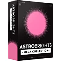 """Astrobrights Mega Collection, Colored Paper, Neon Pink, 625 Sheets, 24 lb/89 gsm, 8.5"""" x 11 - MORE SHEETS! (91673)"""