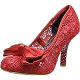 Womens Irregular Choice Mal E Bow Party Slip On Court Shoes High Heel