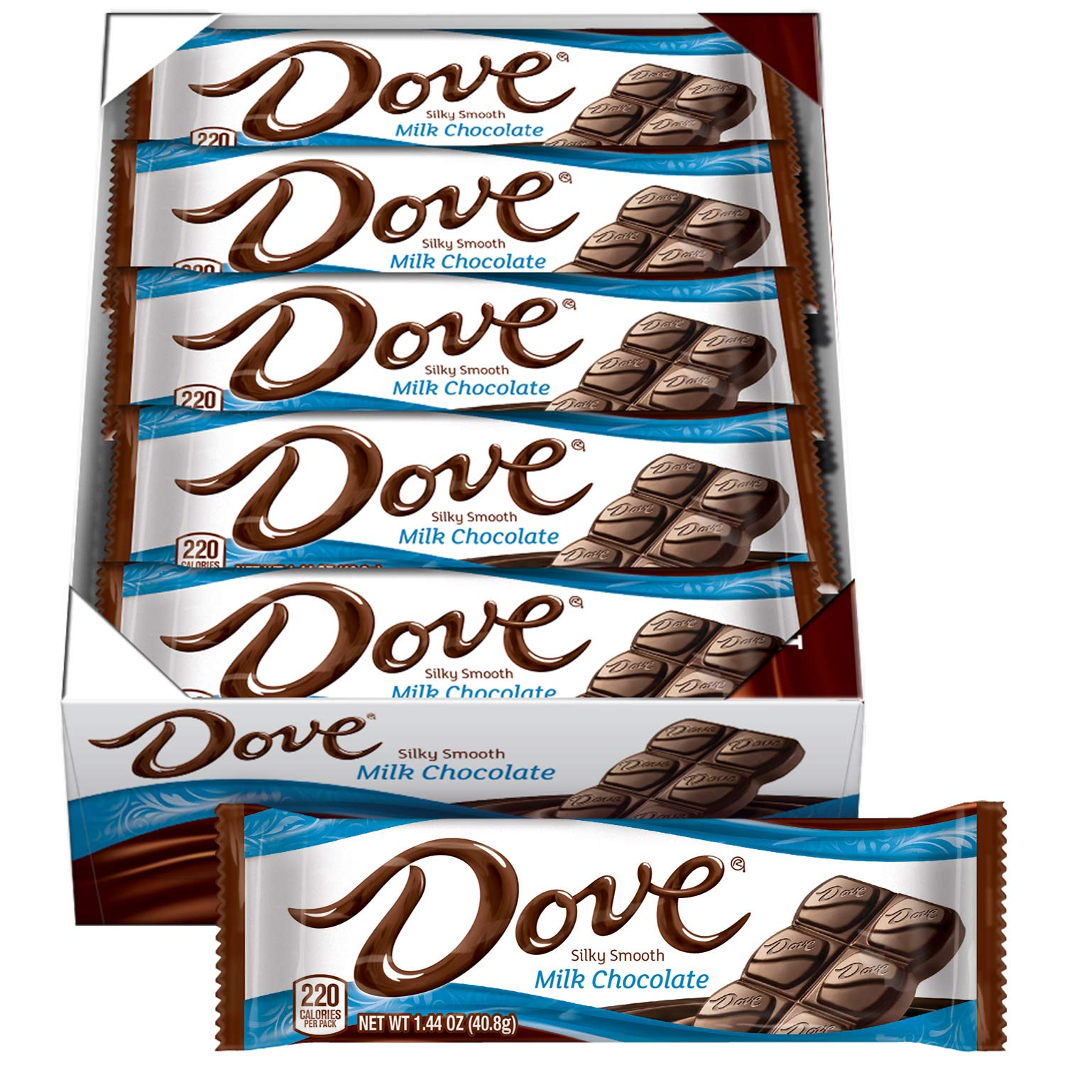Amazon.com : DOVE Milk Chocolate Singles Size Candy Bar 1.44-Ounce ...