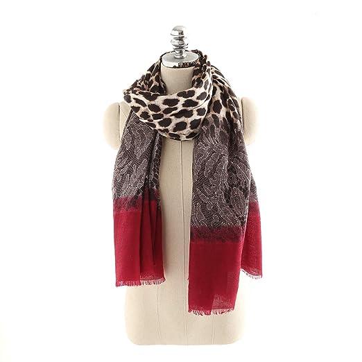 4f37701c6bfd1 Women's Fall Winter Warm Classic Plaid Blanket Scarf Tartan Stylish Soft  Chunky Scarf Wrap Shawl (
