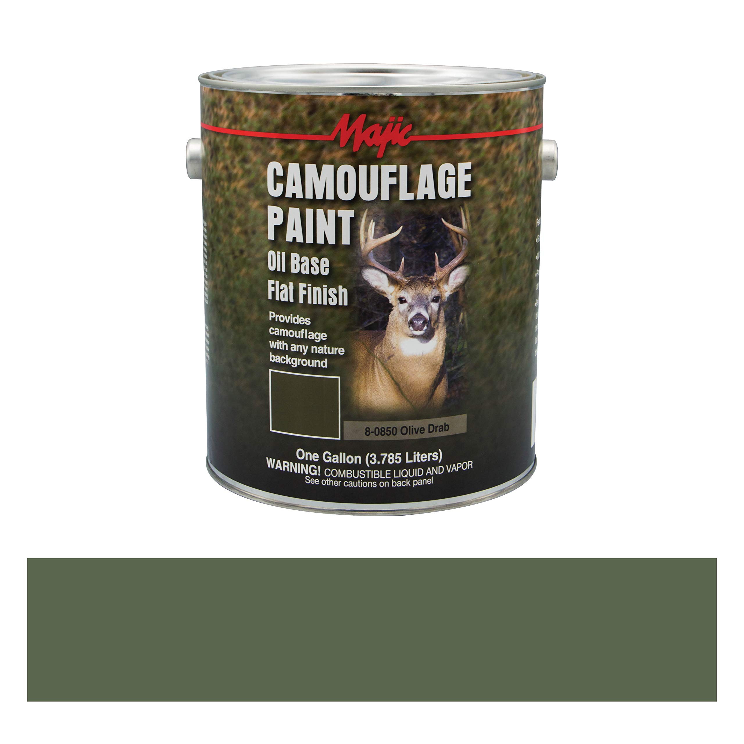 Majic Paints 8-0850-1 Camouflage Paint, 1-Gallon, Olive Drab by Majic Paints