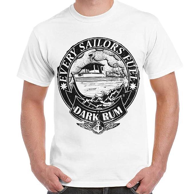 Shirt Stampa Marinaio Uomo T Maglietta Sailor Con Cotone Divertente 3L54RjA