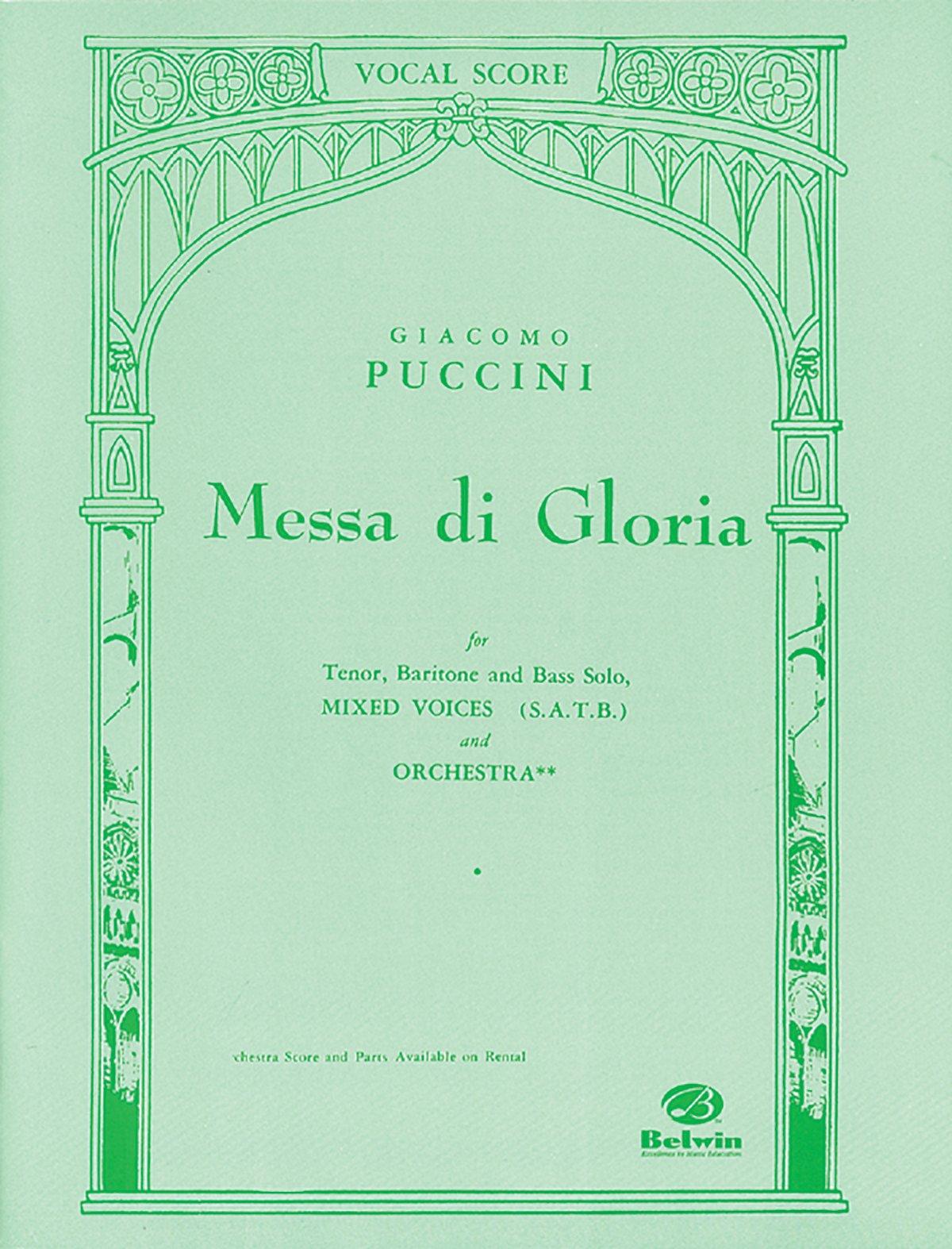 Messa di Gloria: SATB (Orch. Acc.) (Belwin Edition) (Latin and English Edition)