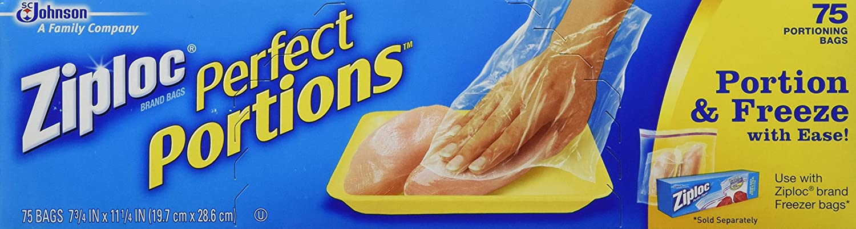 Ziploc Perfect Portions Freezer Bag 75 Count